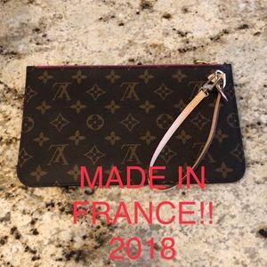 Louis Vuitton Neverfull Pochette Clutch Monogram